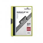Dossier con clip metálico A4 60 hojas Durable Duraclip verde oscuro