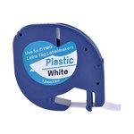 Cinta rotuladora electrónica Dymo Letratag 12mm plástico, negro/blanco 4m