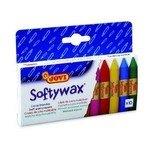 Lápices de cera de colores Jovi Softywax caja de 10