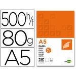 Papel fotocopiadora 80 g liderpapel a5