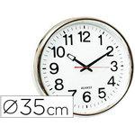 Reloj de pared plástico oficina redondo 35 cm
