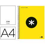 Cuaderno espiral microperforado tapa forrada Liderpapel Antartik A4 amarillo liso
