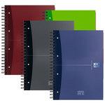 Cuaderno espiral microperforado tapa extradura Oxford Office A5+ 100h cuadros 5mm.