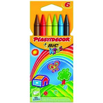 Lápices de cera de colores Plastidecor estuche 6 colores