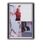Vitrina para anuncios con puerta oscilante uso interior Nobo 9 hojas A4 1.040x792mm