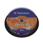 DVD-R grabable 4,7Gb Verbatim Matt Silver 43523