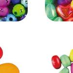 Abalorios de plástico y madera Fixo Kids redondo plástico bolsa 30g