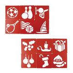 Plantillas de plástico flexible para dibujar Grafoplás navidad