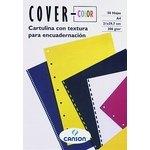 Portadas de encuadernar cartulina tela Canson Cover-color azul ultramar