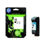Cartucho inkjet HP 15 grande negro 500 páginas C6615DE