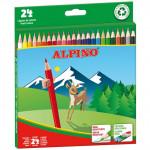 Lápices de colores surtidos Alpino caja de 24