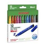Rotuladores de colores Alpino Maxi caja de 12