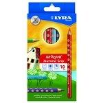 Lápices de colores triangulares Lyra Groove