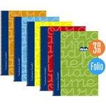 Cuaderno espiral cubierta extradura tamaño folio Lamela cuadro 3mm. Azul