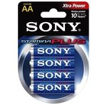 Pila alcalina Sony Stamina Plus AA LR06