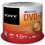 DVD-R grabable Sony 4,7 GB 16x 10 unidades slim