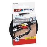 Organizador de cables 12mmx38cm.negro