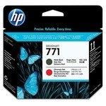 Cabezal impresión HP 771 Negro mate / rojo
