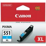 Cartucho inkjet Canon CLI551XL cian 22ml