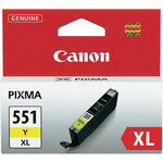 Cartucho inkjet Canon CL551Y XL amarillo 22ml