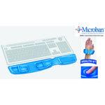 Reposamuñecas teclado gel con canal ergonómico Fellowes azul