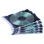 Caja CD/DVD Slim Fellowes transparente