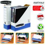 Revistero automático blanco/ azul Fellowes Bankers Box System