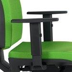 Juego de brazos regulables 1D Eko de PVC para silla operativa