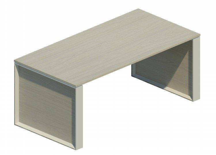 Mesa Omega con marco aluminizado blanco - 160cm