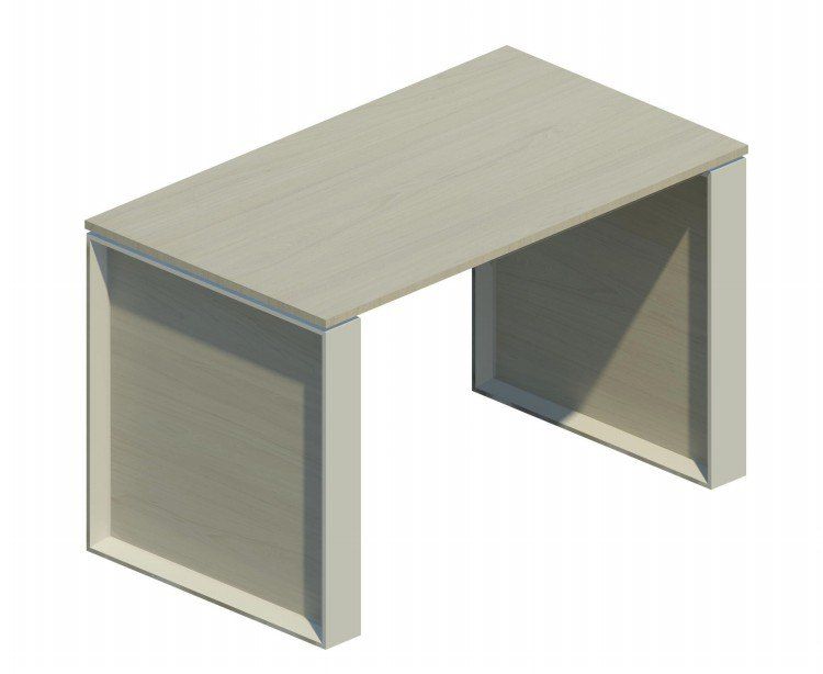 Mesa auxiliar Omega con marco aluminizado 120x69cm nebraska