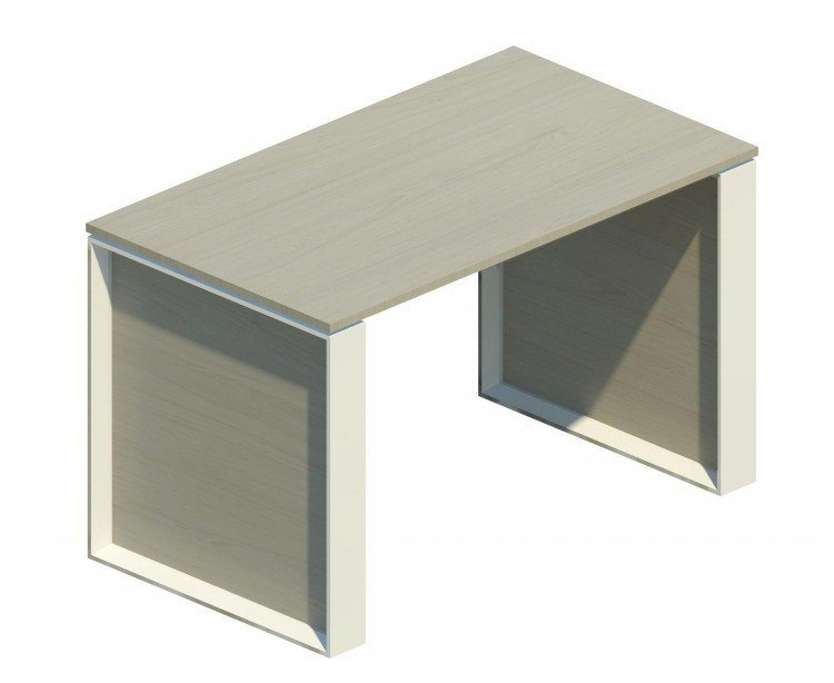 Mesa auxiliar Omega con marco blanco 120x69cm OM30009 NB