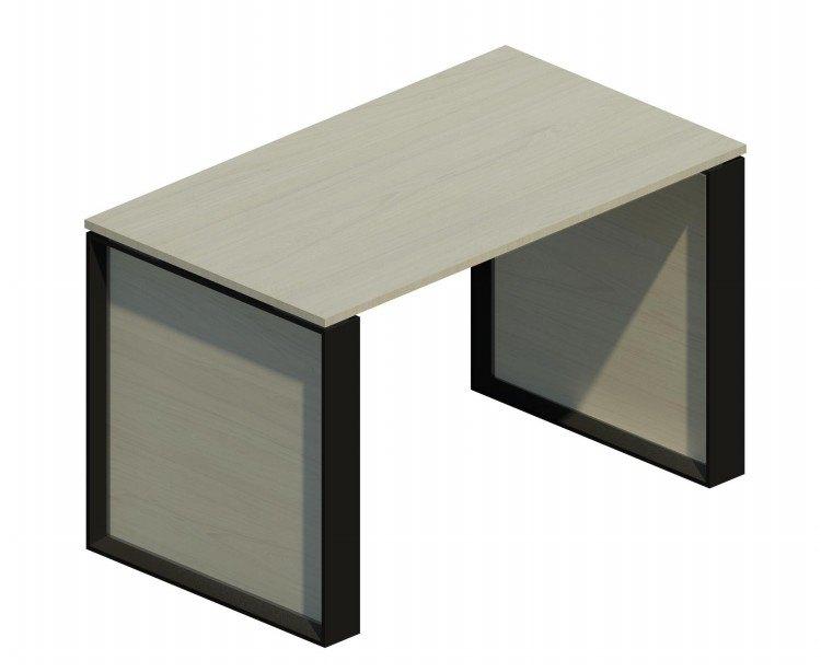 Mesa auxiliar Omega con marco negro 120x69cm blanco