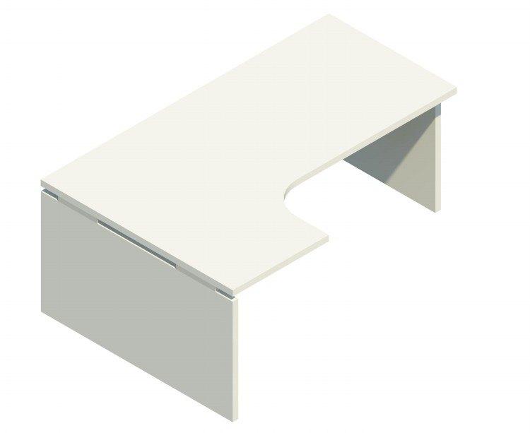 Mesa Compacta IZQUIERDA. Alba Panel en Color Blanco. LB40017IBL