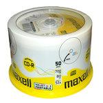 CD-R grabable, imprimible 700Mb 80 minutos Maxell tarrina de 50 unidades