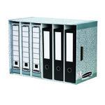 Cajón de archivo de 6 separadores en cartón Fellowes gris