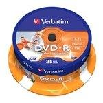 DVD-R Imprimible 4,7Gb Verbatim tarrina de 25 unidades