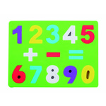 Puzle de goma eva números y signos