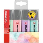 Rotulador fluorescente Stabilo Boss Pastel bolsa de 4 surtidos