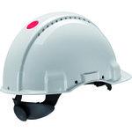 Casco de seguridad 3M G3000 con ventilación y banda sudor plástico color blanco arnés estándar
