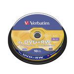 DVD+RW grabable 4,7GB Verbatim Matt Silver Jewel Case de 5 unidades