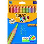 Lápices de colores hexagonales Bic Kids Tropicolors 9375172