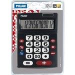 Calculadora de sobremesa extra grande rojo/blanco 12 dígitos Milan