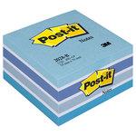 Bloc de notas adhesivas Post-it cubo pastel azul
