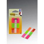 Banderitas marcapáginas rígidas Post-it índex rojo, amarillo y azul