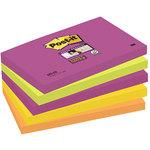 Bloc de notas adhesivas Post-it Super Sticky colores Cape Town 76x76mm
