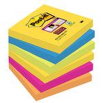 Bloc de notas adhesivas Post-it Super Sticky colores Río de Janeiro 76x76mm