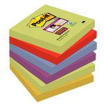 Bloc de notas adhesivas Post-it Super Sticky colores Marrakesh 76x76mm