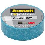 Cinta adhesiva washi tape Scotch Expressions azul craquelado