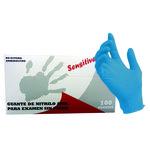 Guantes nitrilo Sensitive desechables sin polvo azul grande