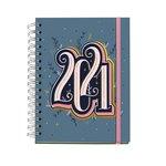 Agenda espiral Día página 2021 Happy Letters Plus Year 15,5x21,3cm